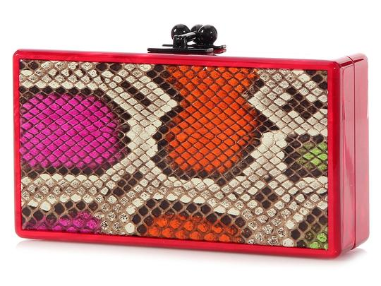 Edie Parker Box Red Pearlescent Ep.ek0413.06 Acrylic Multicolor Clutch Image 1