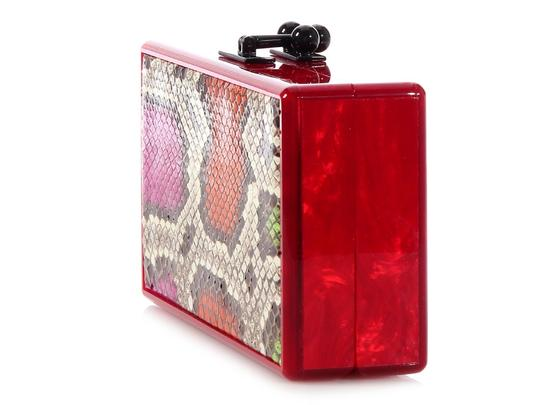 Edie Parker Box Red Pearlescent Ep.ek0413.06 Acrylic Multicolor Clutch Image 2