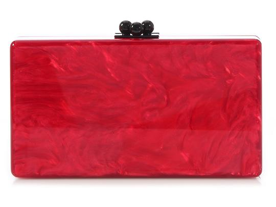 Edie Parker Box Red Pearlescent Ep.ek0413.06 Acrylic Multicolor Clutch Image 3