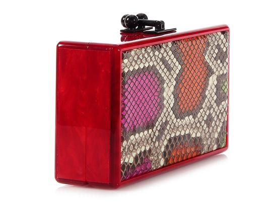 Edie Parker Box Red Pearlescent Ep.ek0413.06 Acrylic Multicolor Clutch Image 4