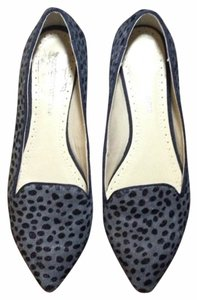 Adrienne Vittadini Calf Hair Animal Print black gray Flats