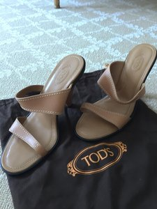 Tod's Sandal Brown Leather khaki Sandals