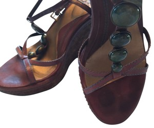 Carlos by Carlos Santana Brown, cork, jade Sandals