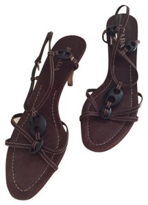 Prada Like New Leather Brown Sandals