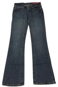 Seven7 Size 27 Boot Cut Jeans-Medium Wash