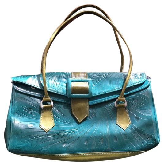 Preload https://img-static.tradesy.com/item/15269248/teal-leather-satchel-0-2-540-540.jpg