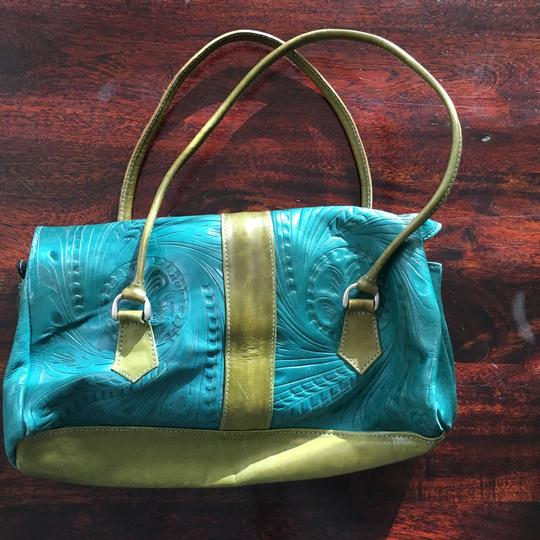 Made in Paraguay Satchel in Teal Image 1