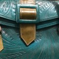 Made in Paraguay Satchel in Teal Image 3