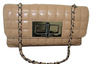 Chanel Chain Camel Beige Clutch