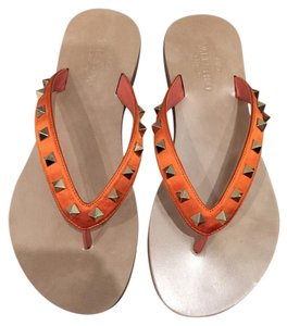 Valentino Rockstud Orange Sandals