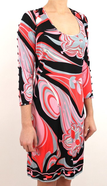 Emilio Pucci short dress Pinks, White, Grey, Black on Tradesy
