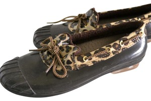 Sperry Brown & leopard print Flats