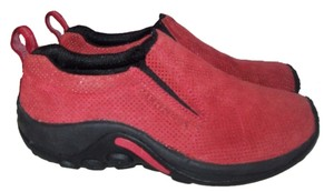 Merrell Athletic Comfortable Treads Red Flats