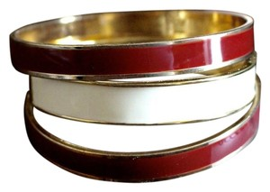 BaubleBar RED AND WHITE BANGLE BRACELETS
