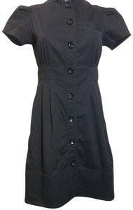 Marc Jacobs short dress Black Button Short Sleeve Cotton on Tradesy