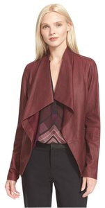 Vince Leather Scuba Scarlet Red Jacket
