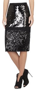 BCBGMAXAZRIA Bcbg Cristal Sequined Skirt Black