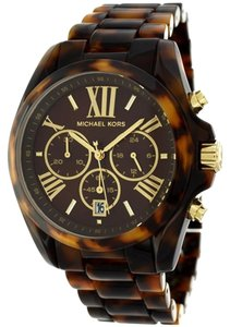 Michael Kors Michael Kors Bradshaw Tortoise Acetate Choronograph Ladies Watch 43mm MK5839