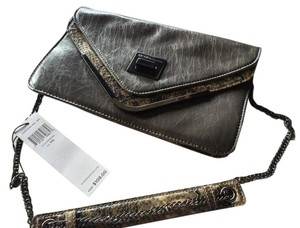 BCBGeneration Envelope Grey Leather Shoulder Bag