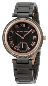 Michael Kors Michael Kors Mini Skylar Black Dial Ceramic Ladies Watch 33mm MK6242