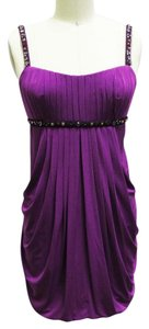 BCBGMAXAZRIA Bcbg Purple Beaded Dress