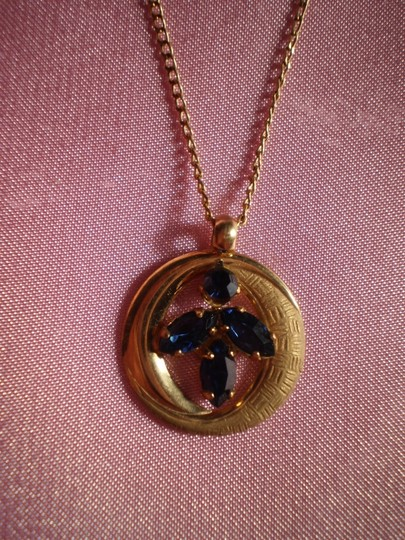 Preload https://img-static.tradesy.com/item/152735/like-new-gold-wblue-sapphires-necklace-0-0-540-540.jpg