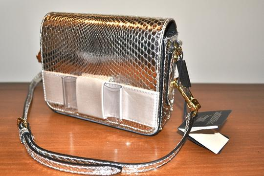 Burberry Berkeley Snakeskin Crossbody Mini Bridal Satchel in Silver Image 1
