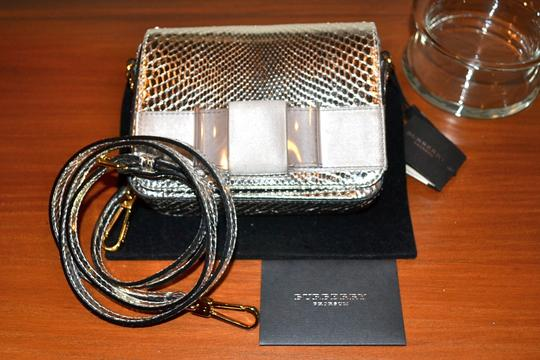 Burberry Berkeley Snakeskin Crossbody Mini Bridal Satchel in Silver Image 2