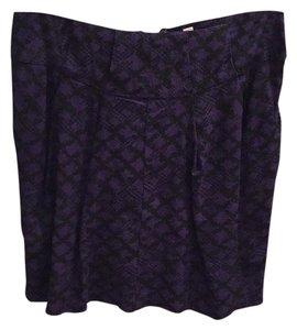 Urban Outfitters Mini Skirt Black & Purple