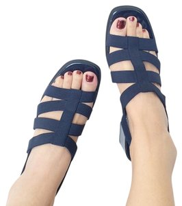Other Navy Blue Stripe Vintage Sandals