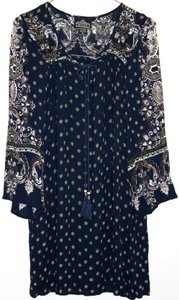 Angie short dress Blue Boho Bohemian Peasant Shift on Tradesy