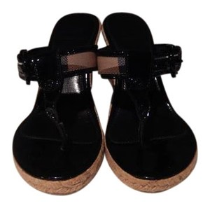 Burberry Sandals Heels black Wedges