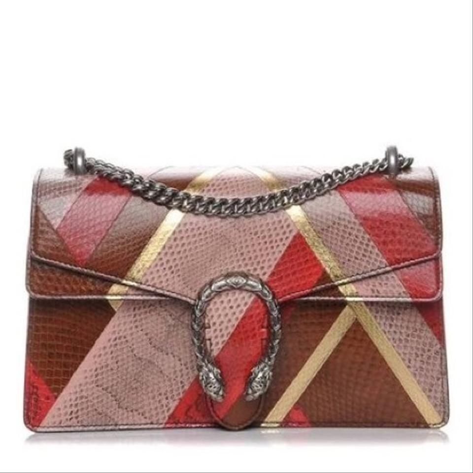 eb9d892f1c0 Gucci Dionysus Small Patchwork Chain Multicolor Ayers Snakeskin ...
