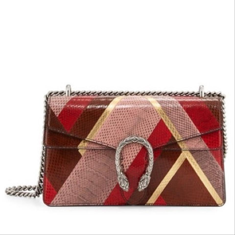 495a20e94cf1 Gucci Dionysus Small Patchwork Chain Multicolor Ayers Snakeskin Leather  Shoulder Bag - Tradesy