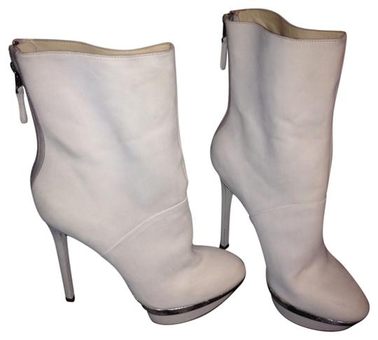 Brian Atwood Creme/Ivory Boots