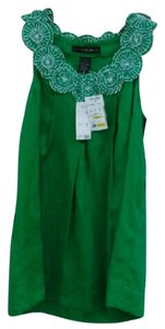 Grace Elements Top Green and White