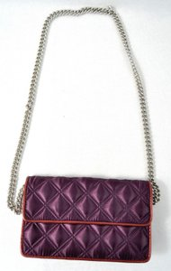 Marc Jacobs Marc By Quilted Satin Evening Handbag Dk Purples Clutch
