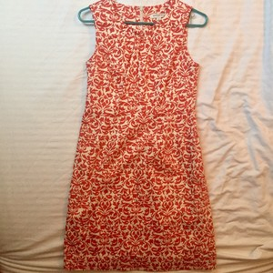Banana Republic Structured Print Floral Sleeveless Cotton Dress