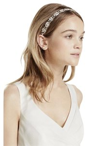 David's Bridal Silver Faceted Cluster Headwrap Hair Accessory