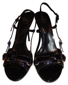 Burberry Patent Black Sandals