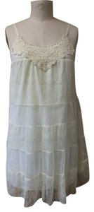 Xhilaration short dress cream Lace Babydoll on Tradesy