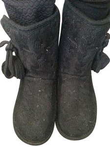 Dollhouse Cableknit Indoor Black Boots