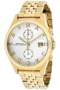 Marc by Marc Jacobs Marc by Marc Jacobs Fergus Chronograph Silver Dial Gold-tone Ladies Watch 38mm MBM3379