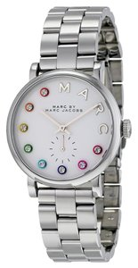 Marc by Marc Jacobs Marc by Marc Jacobs Baker Dexter Silver Dial Rainbow Markers Stainless Steel Ladies Watch 36mm MBM3420