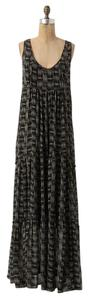 Black Motif Maxi Dress by Anthropologie Maxi And White
