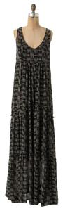 Black Motif Maxi Dress by Anthropologie Maxi Black And White Tank Summer Ballad