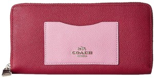 Coach Colorblock Cyclamen Pink Clutch