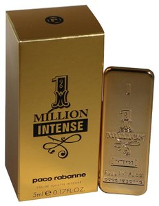 Mouse over image to zoom Have one to sell? Sell now 1 Million Intense by Paco Rabanne 0.17oz/5ml Edt Splash Mini For Men New