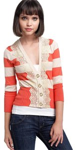 Nordstrom Parfait Lace Stripes Cardigan