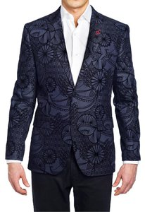 Bogosse - Size 7/58 Men Evening Men Navy Blue Jacquard - Tibo Blazer 83 Jacket